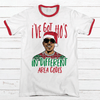 Ho's In Different Area Codes Premium Christmas Ringer Tee