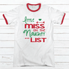 Little Miss Premium Christmas Ringer Tee