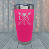 Baseball Love Arrows Laser Engraved Tumblers