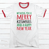 Merry Kiss My Ass Premium Christmas Ringer Tee