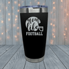 Mom Life Football Laser Engraved Tumblers