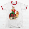 Naughty Girls Get More Presents Premium Christmas Ringer Tee