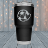 Soccer Ball and Heart Laser Engraved Tumblers