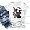 Soccer Love Patterns - Premium Unisex T-Shirt