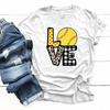 Softball Love Patterns - Premium Unisex T-Shirt