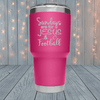Sundays Jesus And Football Laser Engraved Tumblers