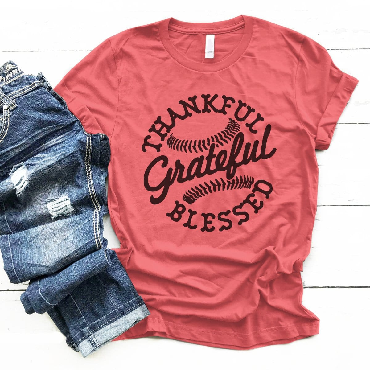 Thankful Grateful Blessed - Premium Unisex T-Shirt