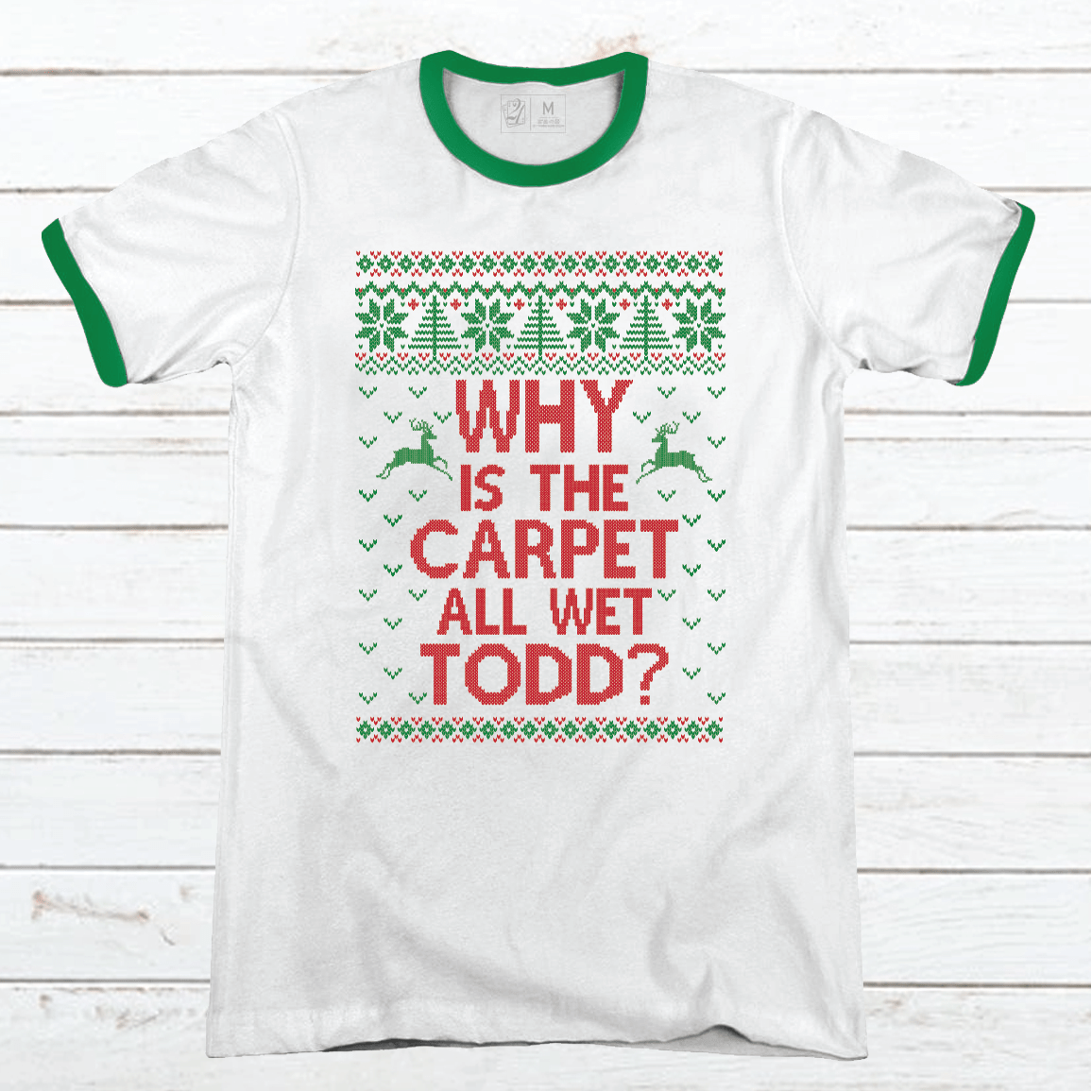 Todd + Margo Carpet Wet Premium Christmas Ringer Tee