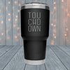 Touchdown Letters Laser Engraved Tumblers