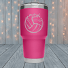 Volleyball Game Day Laser Engraved Tumblers