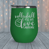 Volleyball Love Language Laser Engraved Tumblers