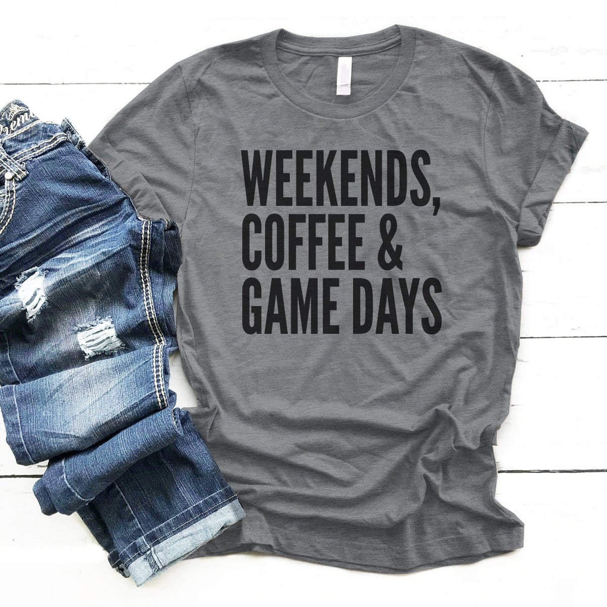 Weekends Coffee Game Days - Premium Unisex T-Shirt
