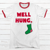 Well Hung Premium Christmas Ringer Tee