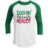 Raglan - DASHIN THROUGH MERLOT Premium Christmas Raglan