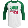 Raglan - DASHIN THROUGH PINOT Premium Christmas Raglan