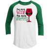 Raglan - MORE WINE THE MORE MERRY Premium Christmas Raglan