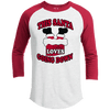 Raglan - THIS SANTA LOVES GOING DOWN Premium Christmas Raglan