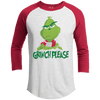 T-Shirts - Grinch Please Premium Christmas Raglan