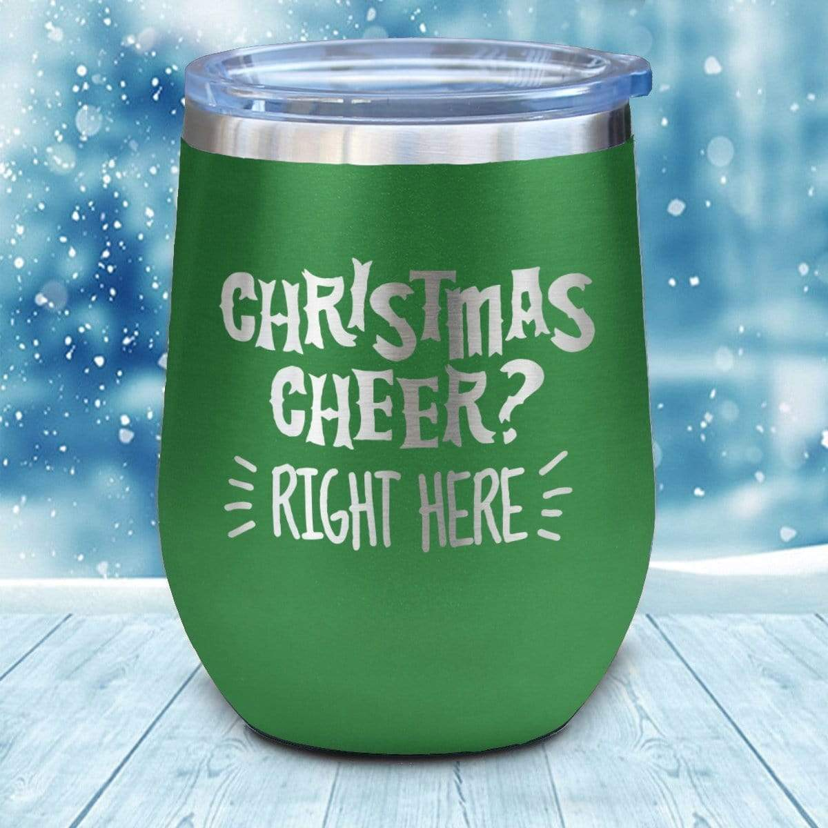 Tumbler - Christmas Cheer Christmas Wine Glass