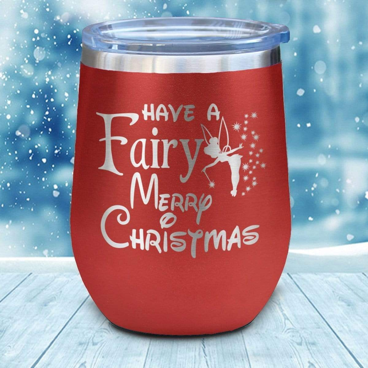 Tumbler - Fairy Christmas Christmas Wine Glass