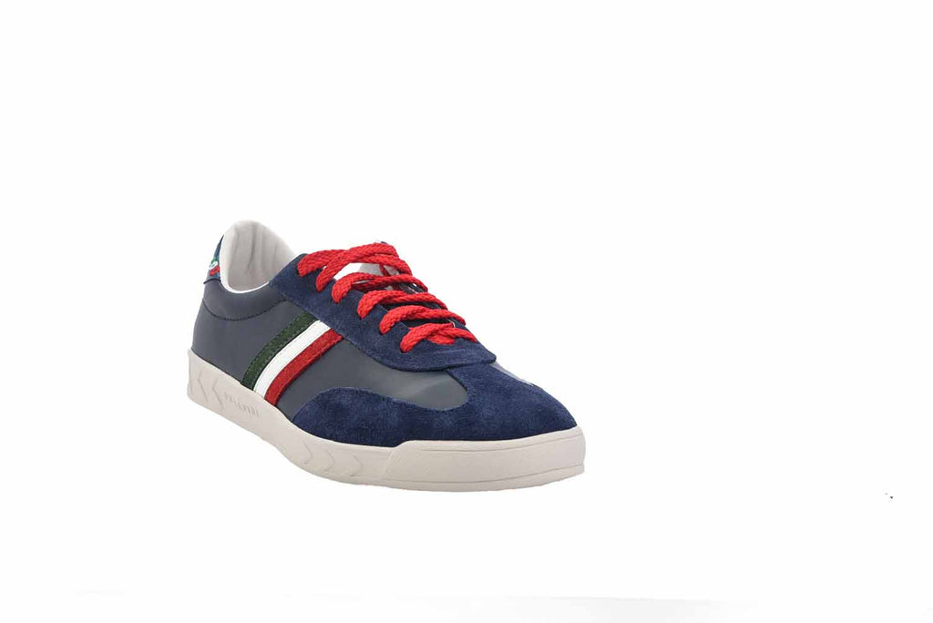 Blue Italia Logo Sneaker & Red Laces