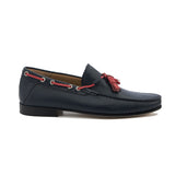 Venetian Dark Blue Loafer w/ Red Tassle