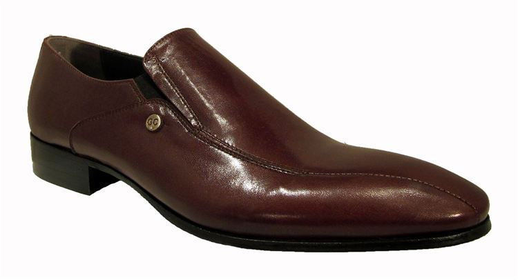 Burgundy Leather Pointed Loafer