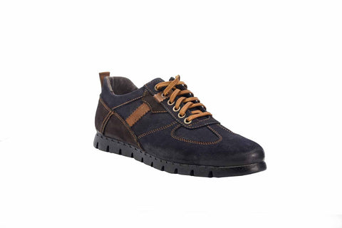 Sesia Dark Navy Leather Sneaker