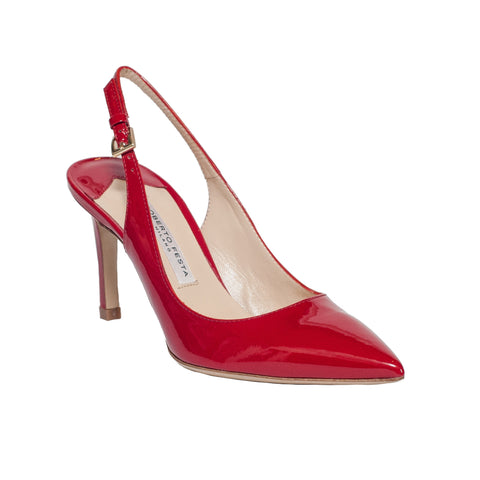 Sardinia Red Patent Leather Slingback