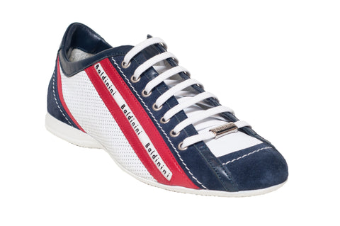 Baldinini 'Classic' Red Blue and White Fashion Sneaker