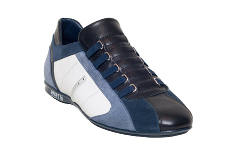 Multi-Toned Blue & White No Velcro and No Lace Sneakers