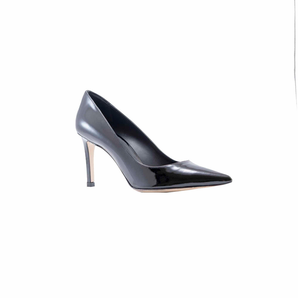 Torretta Black Patent Leather Classic Pump