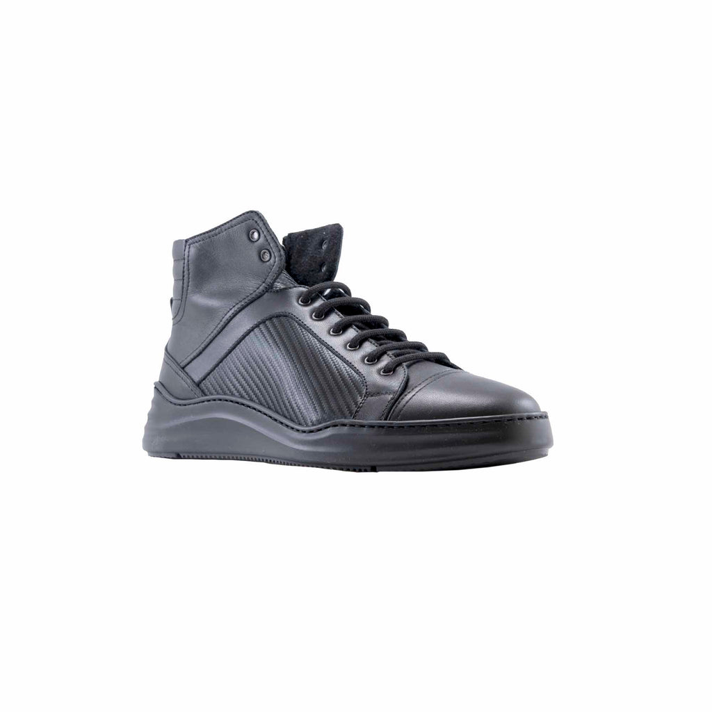 Firenze Textured Leather High-Top