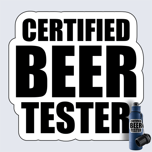 Certified Beer Tester Decal