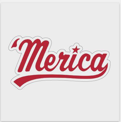 'merica Decal