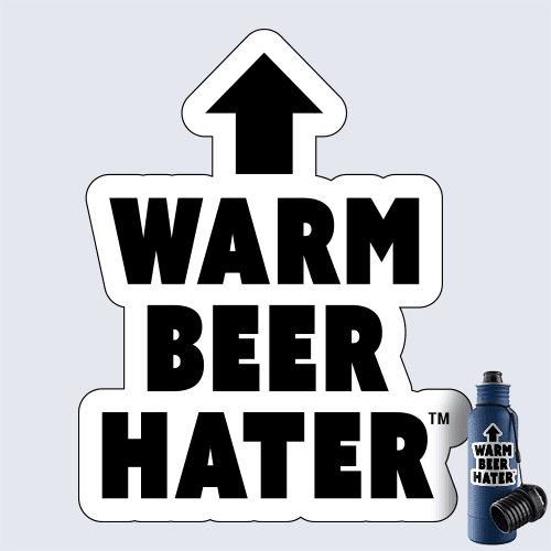 Warm Beer Hater Decal