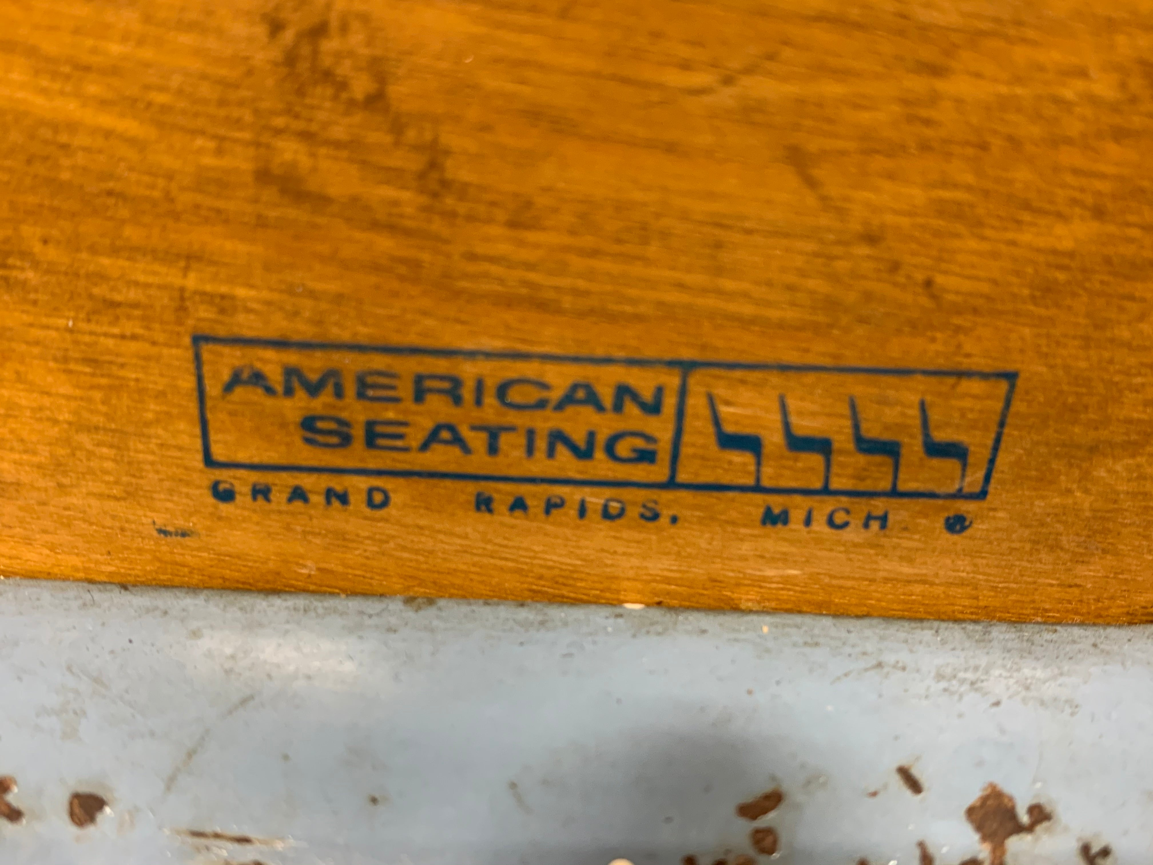 Vintage Mid Century DINING CHAIRS by American Seating Corporation, a Pair