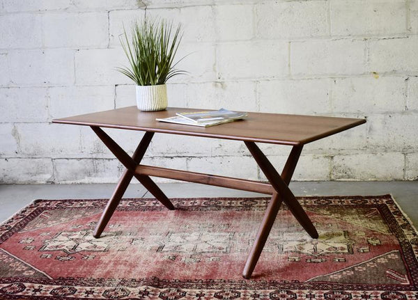 Sleek Mid Century Modern Teak Coffee Table - Circa60