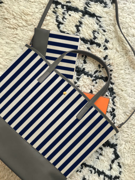 Navy Stripe Tribeca Tote