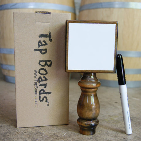 White Dry Erase Beer Tap Handle