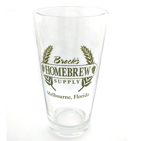 Brocks Homebrew Pint Glass