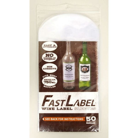 FastLabel Label Sleeves: 750ml XL