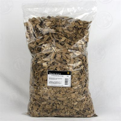 Untoasted Oak Chips 5lbs Bag