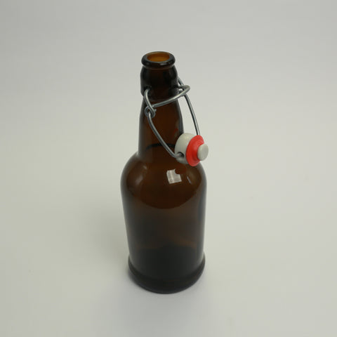 EZ Cap 500ml Amber Flip Top Bottles