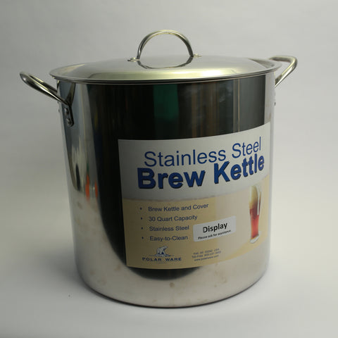Stainless Steel Brew Kettle: 7.5 Gallon