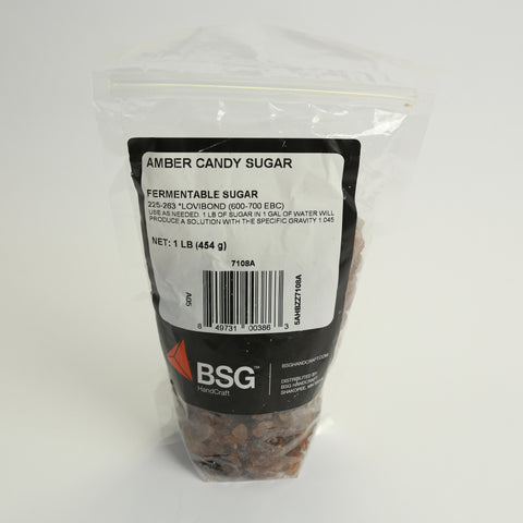 Candy Sugar Amber 1lbs Bag