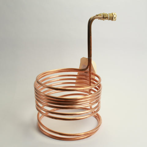 25ft Copper Wort Chiller with Garden Hose Fittings