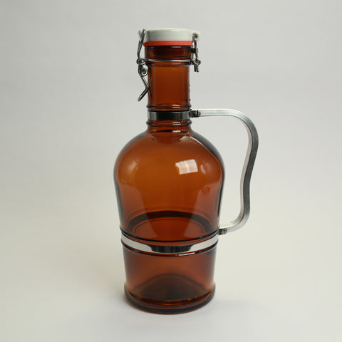 2 Liter Growler with Metal Handle