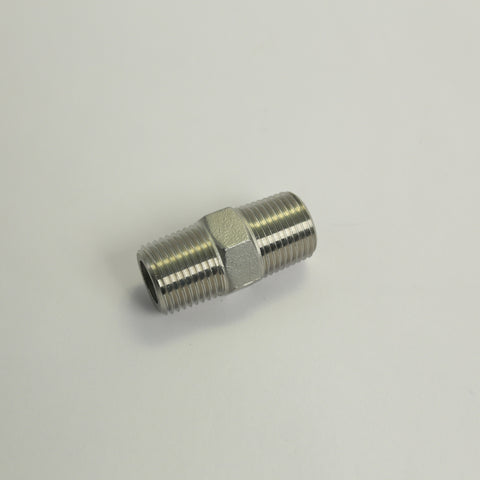1/2in MPT Hex Nipple Stainless Steel