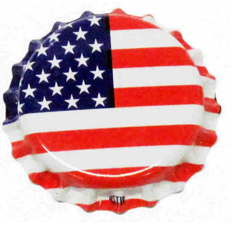 Crown Caps: American Flag